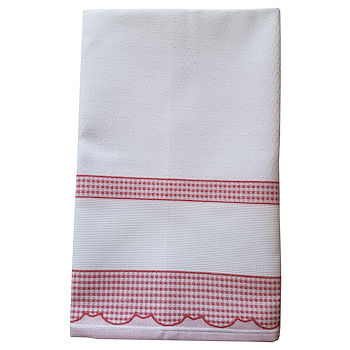 Madagascar Kitchen Towel - Red MAIN
