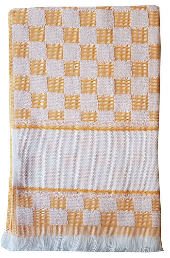 Verona Kitchen Towel - Orange/White THUMBNAIL