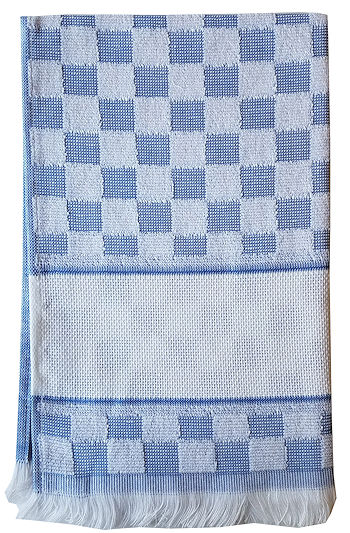 Verona Kitchen Towel - Blue/White THUMBNAIL