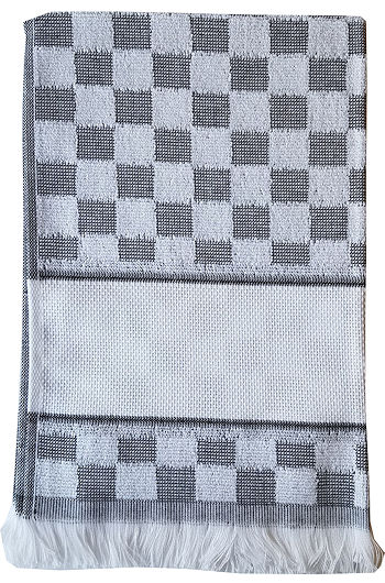 Verona Kitchen Towel - Black/White MAIN