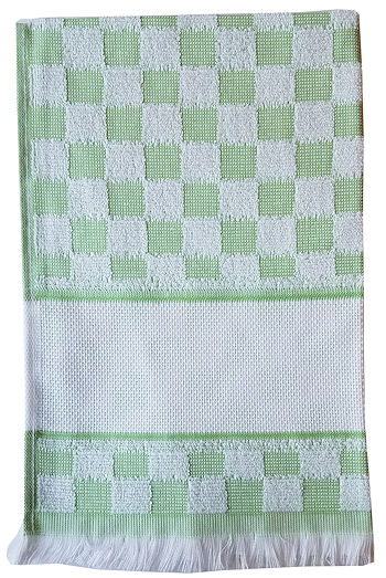 Verona Kitchen Towel - Green/White MAIN