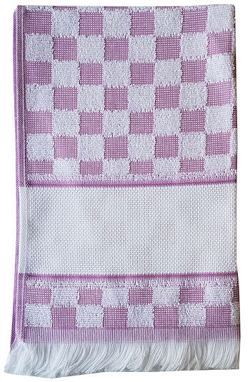 Verona Kitchen Towel - Lilac/White THUMBNAIL