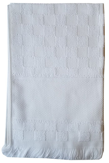 Verona Kitchen Towel - White/White