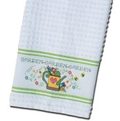 Nancy Kitchen Towel - Lime Green