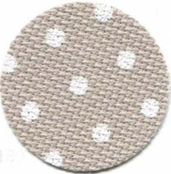 Aida 20ct Beige with White Dots MAIN