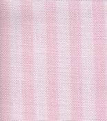 Fabric Flair Parisian Linen 28ct Pink Stripe Stoney