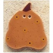 Mill Hill Button - 43056 Debbie Mumm - Pumpkin With Gold Dots