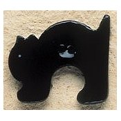 Mill Hill Button - 43060 Debbie Mumm - Arched Black Cat