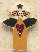 Mill Hill Button - 43071 Debbie Mumm - Garden Angel With Heart