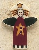 Mill Hill Button - 43072 Debbie Mumm - Garden Angel With Star