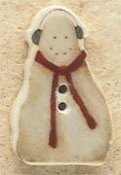 Mill Hill Button - 43097 Debbie Mumm - Snowman With Earmuffs MAIN