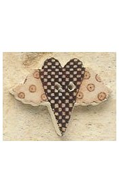 Mill Hill Button - 43100 Debbie Mumm - Checkerboard Flying Heart MAIN