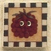 Mill Hill Button - 43104 Debbie Mumm - Raspberry Square Stamp MAIN