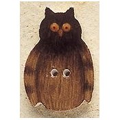 Mill Hill Button - 43121 Debbie Mumm - Owl