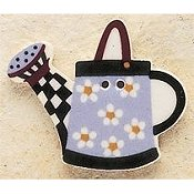 Mill Hill Button - 43147 Debbie Mumm - Blue Daisy Watering Can