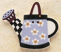 Mill Hill Button - 43147 Debbie Mumm - Blue Daisy Watering Can MAIN