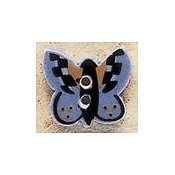 Mill Hill Button - 43148 Debbie Mumm - Blue Butterfly MAIN