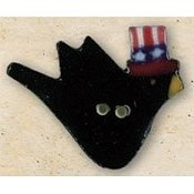 Mill Hill Button - 43157 Debbie Mumm - Patriotic Crow THUMBNAIL