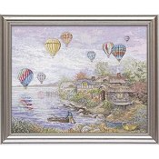 Bucilla Heirloom Collection - Cottageville Balloons