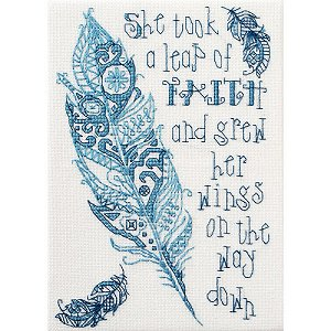 Cover of Bucilla counted cross stitch Kit - Leap of Faith MAIN