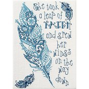 Cover of Bucilla counted cross stitch Kit - Leap of Faith THUMBNAIL