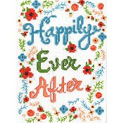 picture of Bucilla cross stitch kit - Happily Ever After stitched design_THUMBNAIL