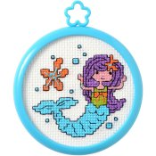 Bucilla Cross Stitch Kit - My 1st Stitch - Mermaid THUMBNAIL