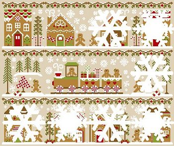 Country Cottage Needleworks - Gingerbread Village #4 - Gingerbread House 2 MAIN