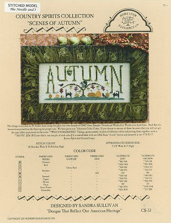 Country Spirits Collection - Scenes of Autumn