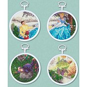 The Disney Dreams Collection - Cinderella (Set of 4 Cross Stitch Mini Vignettes)