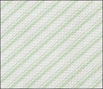 Fabric Flair Candy Stripes Green Evenweave 28ct Stoney