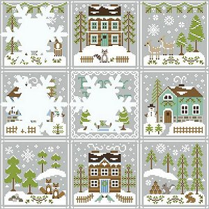 Country Cottage Needleworks - Frosty Forest #6 - Snowy Foxes MAIN