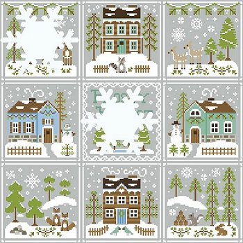 Country Cottage Needleworks - Frosty Forest #7 - Snowgirl's Cottage MAIN