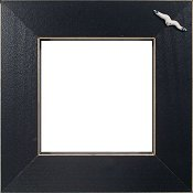 Button Frame - Seagull 5x5 Black THUMBNAIL