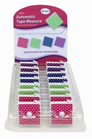 Allary Automatic Tape Measure - Assorted Colors THUMBNAIL