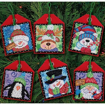 Dimensions Kit - Christmas Pals Ornaments Counted Cross Stitch Kit