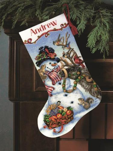 Dimensions Stocking Kit - Snowman Gathering MAIN