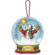 Dimensions Snow Globe Ornament - Believe (S) THUMBNAIL