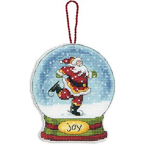 Dimensions Snow Globe Ornament - Joy (S) MAIN