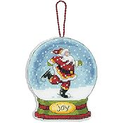 Dimensions Snow Globe Ornament - Joy (S) THUMBNAIL