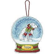 Dimensions Snow Globe Ornament - Hope (S)