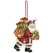 Dimensions Ornament Kit - Santa with Bag (S) THUMBNAIL