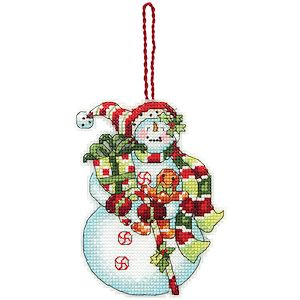 Dimensions Ornament Kit - Snowman with Sweets (S) MAIN