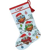 Dimensions Stocking Kit - Holiday Hooties Stocking THUMBNAIL