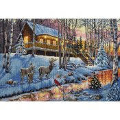 Dimensions Gold Collection Kit - Winter Cabin THUMBNAIL
