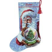 Dimensions Gold Collection Kit - Santa's Snow Globe Stocking THUMBNAIL