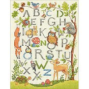 Dimensions Cross Stitch Kit - Woodland Alphabet