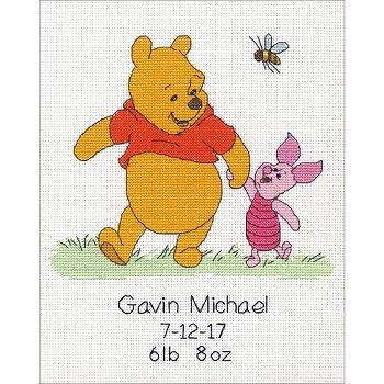 f3110750d08a disney winnie the pooh cross stitch winnie the poo birth record ...