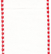 "Stitch Band 16ct Aida White w/ Red Edge 3-1/8"" width THUMBNAIL"