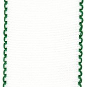 "Stitch Band 16ct Aida White w/ Christmas Green Edge 3-1/8"" width THUMBNAIL"